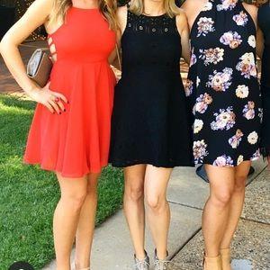 BB Dakota Fit and Flare Lace Dress